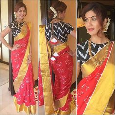 Shilpa Shetty's Alluring Traditional Saree Looks – Fashion in India – Threads Shilpa Shetty Saree, Dress Indian Style, Indian Wear, Saree Backless, Indian Wedding Outfits, Indian Weddings, Indian Designer Suits, Simple Sarees, Saree Trends