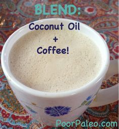 Coconut Oil Coffee is a great Paleo alternative to sugary, chemical filled creamer for your coffee! Want to lose weight? Follow me on my weight loss journey