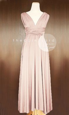 SALE  Petite Maxi infinity dress in Nude pink by thedaintyard