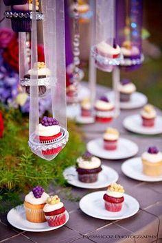 Mini hanging cupcakes!