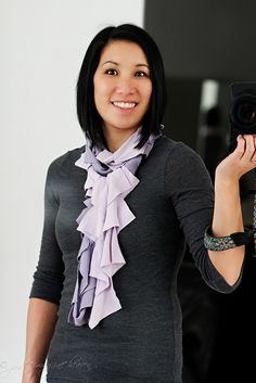T-shirt scarf with tutorial.