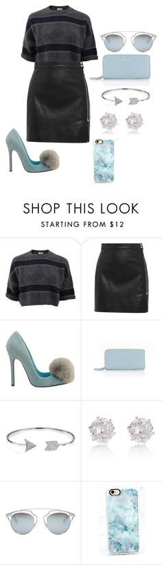 """something different"" by georgiagleeson-14 ❤ liked on Polyvore featuring Brunello Cucinelli, IRO, Privileged, Kate Spade, Bling Jewelry, River Island, Christian Dior and Casetify"