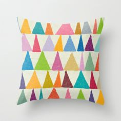 Analogous Shapes In Bloom. Throw Pillow by Nick Nelson - $20.00