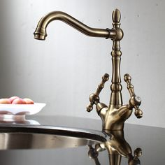 ENKI-Traditional-Victorian-Kitchen-Sink-Mixer-Monobloc-Tap-Brass-Bronze-Bridge