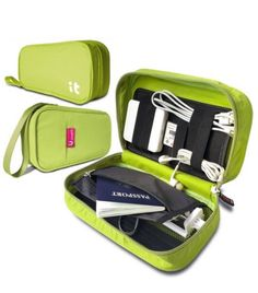 Travel Cord Organizer Electronics Accessories Case Cable Organizer Electronics Travel Organizer Hand Green ** You can find out more details at the link of the image. Cord Organization, Travel Organization, 30 Gifts, Tech Gifts, Must Have Travel Accessories, Best Travel Gifts, Cable Organizer, The Ultimate Gift, Gift Guide