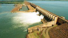 Vertedouro da Usina Hidrelétrica Ilha Solteira é a maior usina da CESP