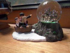 Boat journey to Hogwarts water globe