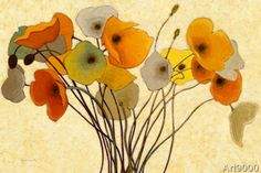 Shirley Novak - Pumpkin Poppies I