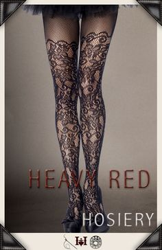 Delectably Charming Gothic Lace stockings