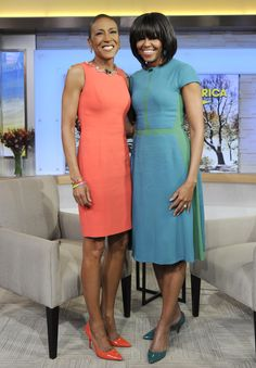 Michelle Obama, and Robin Roberts of GMA