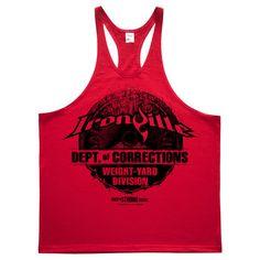 cd802239f961e Department Of Corrections Prison Stringer Tank Top Red Stringer Tank Top