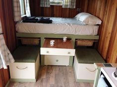 shepherds hut inside - Google Search