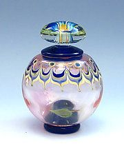 Art Glass Perfume Bottle by Chris Pantos