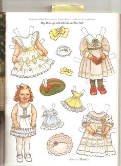 Sew Beautiful paper doll Martha 1 | Flickr - Photo Sharing!