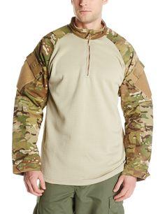 TRU-SPEC Men's Tru 1/4 Zip Winter Combat Shirt, Medium Long, Multicam