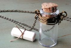 Message In A Bottle Necklace - DIY Kit