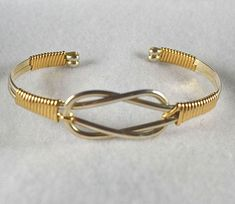 "Bracelet TUTORIAL Wire wrapped Cuff pdf ""Knotted Cuff"" - Learn to make this bracelet. Intermediate. $7.00, via Etsy."