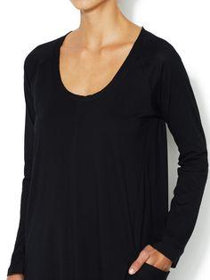 DONNA KARAN - Pima Cotton Sleepshirt with Pockets