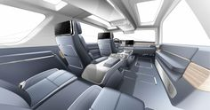 Lincoln Navigator Concept interior rendering by Chacko Abraham