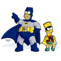 Simpsons: Batman & Robin Vector art by Christiaan Mateo deviantART - Top SuperHeroes Batman Robin, Im Batman, Batman Comics, Batman Superhero, Gotham Batman, Batman Art, The Simpsons, Simpsons Characters, Disney Characters