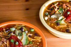 Vegan Tortilla Soup  www.ohsheglows.com