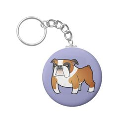 Cartoon Bulldog (tricolor) Key Chain