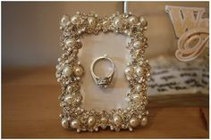 Wedding Ring Holder - Make one of these for your vanity, you can hang your ring while you do dishes and cleaning!