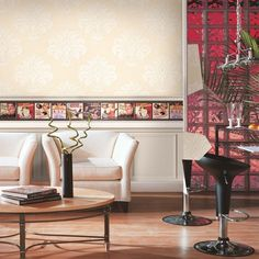 The Design that truly energize a room. #homedecor #wallpaper #furnishturf