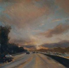 """Saatchi Art Artist karin moorhouse; Painting, """"Driving Rain and Sun 1"""" #art"""