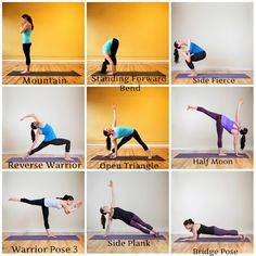 A picture representation and explanation of yoga poses geared towards working the back muscles.