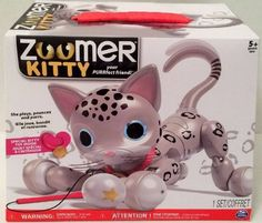 New Exclusive Zoomer Kitty Zooey Snow Leopard Spots Interactive Robot-SEE VIDEO #SpinMaster