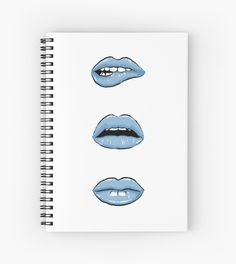 Millions of unique designs by independent artists. Find your thing. Green Lips, Blue Lips, School Items, School Essentials, Lip Designs, School Fun, Some Fun, Spiral, Finding Yourself