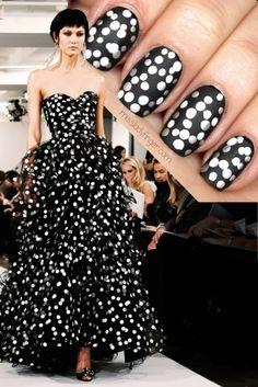 Oscar de la Renta Fall '14 #nail #nails #nailart