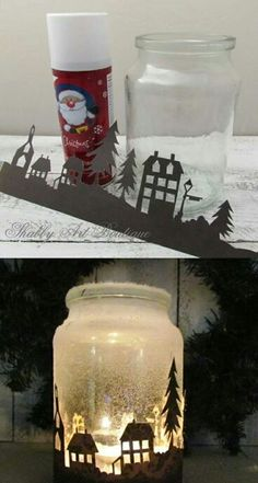 Silhouette Candle