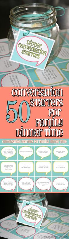 Great conversation starters for family dinners!