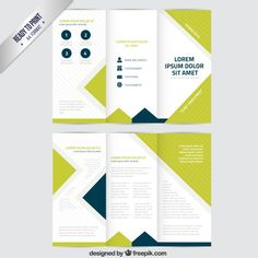 Brochure in trifold style Free Vector