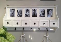 Hallway Wall Coat Rack Unit With Drawers / Photo Frames