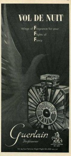 Guerlain Vol De Nuit Perfume Bottle - Cosmetics And Toiletries, Cosmetics & Perfume, Vintage Advertisements, Vintage Ads, Nicki Minaj Perfume, Perfume Packaging, Top Perfumes, Beauty Ad, Best Perfume