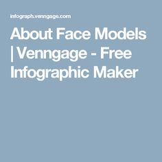 About Face Models | Venngage - Free Infographic Maker