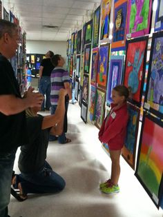 Jamestown Elementary Art Blog: How to set up an AWESOME Art Show!!!