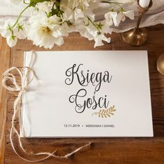 KSIĘGA GOŚCI weselnych z imionami Rustic Leaf Wedding Guest Book, Diy Wedding, Different Colors, Place Card Holders, Rustic, Weddings, Products, Country Primitive, Wedding