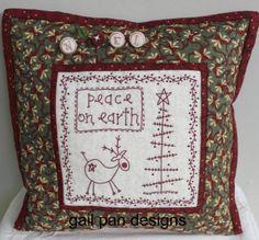 Gail Pan Christmas free stitchery pattern