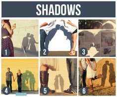 Love these fun shadow pics!  This post has SO many fun ideas for couples…