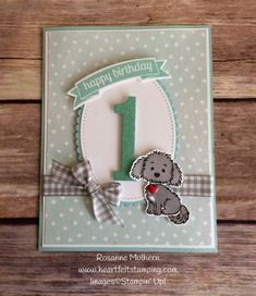 Stampin Up Bella and Friends Birthday Card - Rosanne Mulhern