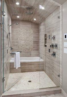 Michelle - Blog #Bathtub or #shower? Fonte : http://www.pebbletileshop.com/products/White-Standing-Pebble-Tile.html#.U4zgFvldW1U