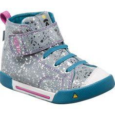 52654e6a995 Dívčí kotníkové boty KEEN ENCANTO SCOUT HIGHT TOP K SILVER SPLATTER PURPLE  WINE Děti