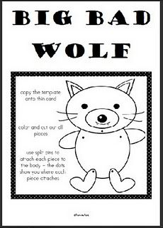 Big Bad Wolf Craft Freebie.
