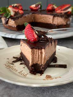 Triple Chocolate Cheesecake, Oreo Cheesecake, Fika, Crunches, Dessert Recipes, Desserts, Tart, Beverages, Tailgate Desserts