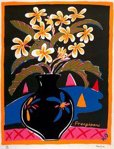 Ken Done Flowers in a vase Painting Inspiration, Art Inspo, National Art School, Contemporary Decorative Art, Kendo, Abstract Portrait, Naive Art, Aboriginal Art, Bouquet