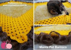 Crochê - Manta Pet Barroco